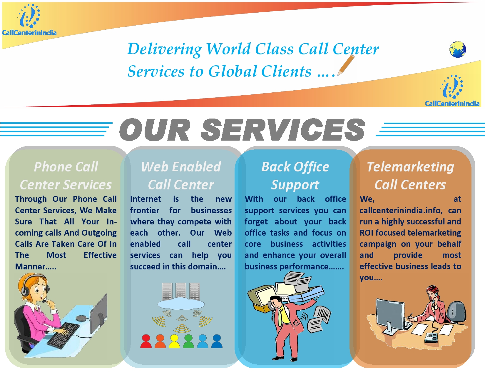call center services, back office services,phone answering services,telemarketing services